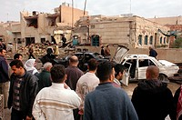 Eight people killed in car bomb attack committed on New Year's Night 2003 at Nabil restaurant in Baghdad in which 12 foreigners and three Iraqi famili...