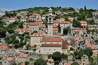 Townscape, Ložišca, Brac Island, Dalmatia, Croatia