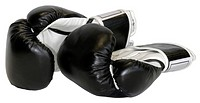 Boxing Gloves Isolated with Clipping Path.