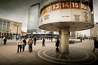 The Word Clock at Alexanderplatz.