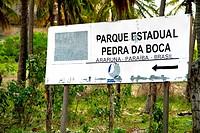 Pedra da Boca, Parque Estadual da Pedra da Boca, Araruna, Paraiba, Brazil
