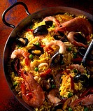 Spanish Paella in Paella dish