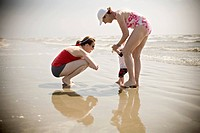Grandmother, Daughter and Grandson on Beach