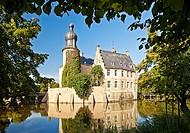 Burg Gemen Castle, moated castle, Borken, Münsterland, North Rhine-Westphalia, Germany