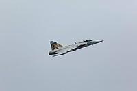 Kampfflugzeug vom Typ Saab JAS 39 Gripen der tschechischen Luftwaffe am 14.06.2013 während einer Flugvorführung anlässlich der Open Dagen 2013 in Volk...