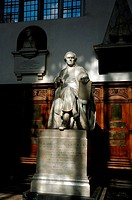 Trinity College chapel, Cambridge UK. Statue of William Whewell.