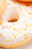 Delicious donut closeup