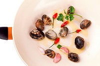Pan With Clams
