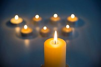 Lit up candles.