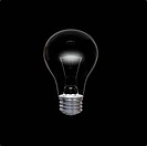 Lightbulb in dark