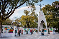 Peace Monument of Children, Peace Park, Hiroshima, Japan.