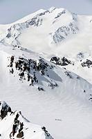 Cross country ski tour mountain snow winter