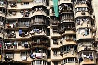 Typical residential house in Mumbai, Maharashtra, India