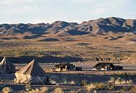 Nomadic encampment near Barsir, Iran.