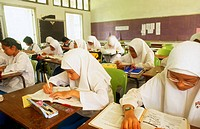 10th Grade Students in a Muslim School, Malaysia