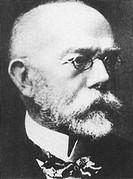 Robert Koch (1843 - 1910), German scientist who was one of the two founders (with Pasteur) of the science of bacteriology. Using a method of staining ...