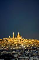 The Sacre-Coeur Basilica Montmartre, Paris, France, Europe.