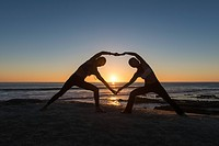 Heart shape pose, Windansea beach, La Jolla, California
