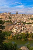 Toledo, Old town, Tagus river, Alcazar, Cahedral, UNESCO World Heritage site, Castilla la Mancha, Spain