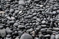 Grey Pebbles on Vik Beach, Iceland, Full Frame
