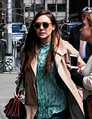 Elizabeth Olsen visits the Late Show with David Letterman in NYC. Featuring: Elizabeth Olsen Where: New York, New York, United States When: 06 May 201...