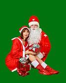 Santa Claus and Snow Maiden
