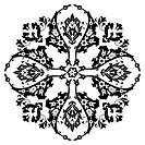 Ottoman motifs design series with twenty-six black