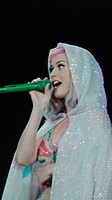 Katy Perry performing live on stage on her 'Prismatic World Tour' at the 02 Arena Featuring: Katy Perry Where: London, United Kingdom When: 27 May 201...