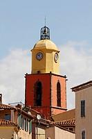 Saint Tropez, parish church, Eglise paroissiale Notre-Dame-de-l Assomption from the 16th century, Cote dAzur, French Riviera, Southern France, Europe