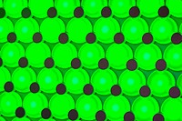 Green background spot lights