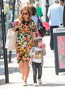 Myleene Klass out and about with her daughters Ava and Hero Featuring: Myleene Klass,Hero Quinn Where: London, United Kingdom When: 17 Jun 2014 Credit...