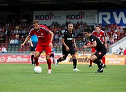 sports, football, Regional League West, 2014/2015, Rot Weiss Oberhausen versus Sportfreunde Siegen 2:1, Stadium Niederrhein in Oberhausen, scene of th...