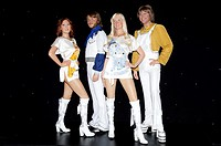 Broadway's 'Mamma Mia' cast unveil ABBA wax figures at Madame Tussauds Featuring: ABBA wax figures,Anni-Frid Lyngstad (Frida) wax figure,Benny Anderss...