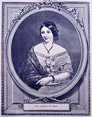 Engraving of the Countess of Derby. Dated 1870