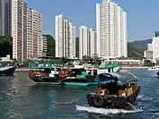 Aberdeen Harbour ABERDEEN HONG KONG Tourist Sampan in Aberdeen.