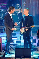 German ZDF Live TV show 'Wetten, dass..?' at Messehalle Featuring: Markus Lanz,Bryan Adams Where: Erfurt, Germany When: 04 Oct 2014 Credit: Patrick Ho...