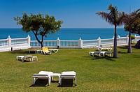 Parador de Turismo, Burriana beach, Nerja, Malaga province, Region of Andalusia, Spain, Europe.