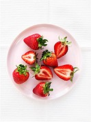 Strawberries, whole and halved
