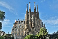 Sagrada Familia, Barcelona, Spain,.