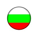 bulgaria button flag sign or badge for website