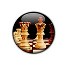 chess button showing business stratregy or competition concept