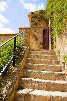 Stone steps on villa stairway