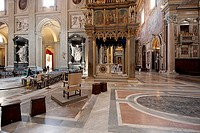 Italy, Lazio, Rome, San Giovanni in Laterano church, main nave