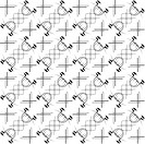 Monochrome seamless pattern background