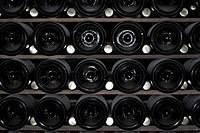Detail of a bottle rack
