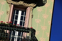 window and balcony detail. Gracia quarter, Barcelona, Catalonia, Spain
