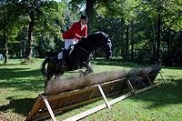 par force hunting, Munich, Bavaria, Germany / hurdle
