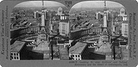 INDIANAPOLIS: MONUMENT. The Soldiers and Sailors Monument in Indianapolis, Indiana. Stereograph, c1930.