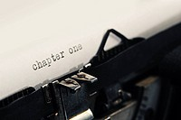 detail of Old Vintage Typewriter: chapter one
