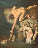 The Deluge. Artist: Court, Joseph-Désiré (1797-1865)